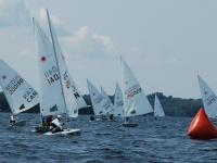 Laser racing - sailing regatta